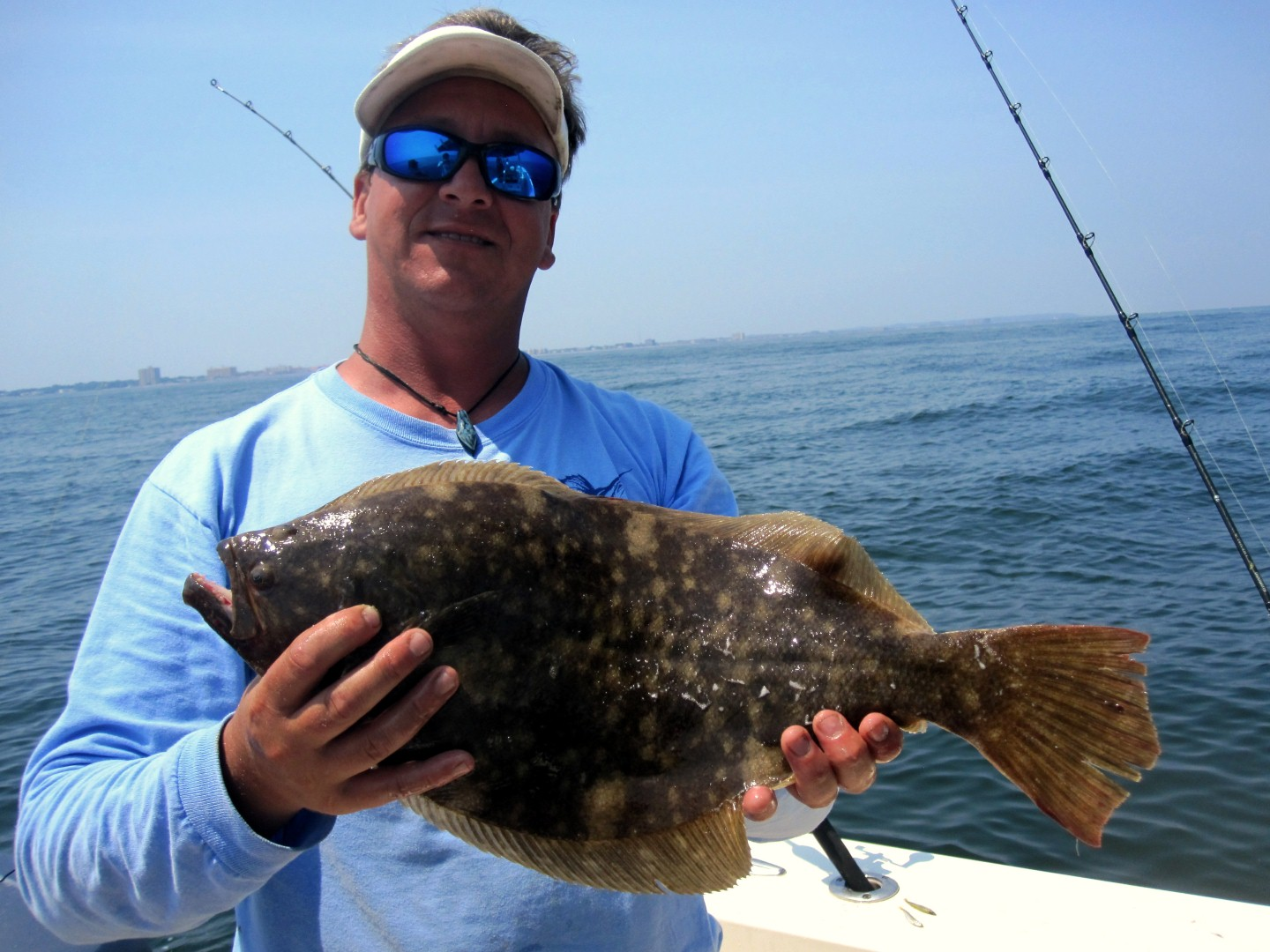 6 29 2012 fluke and sea bass were excellent mickey 39 s for Fluke bass fishing